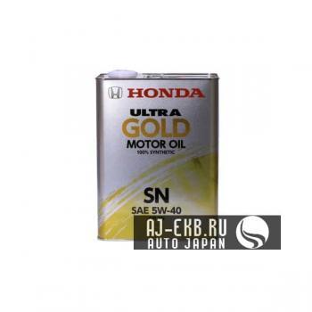 Масло моторное Honda Ultra GOLD 100% synthetic SN 5W-40, 4л