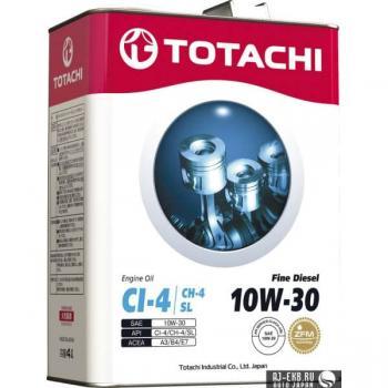 Моторное масло TOTACHI Fine  Diesel  CI-4/CH-4/SL  10W-30, 4л