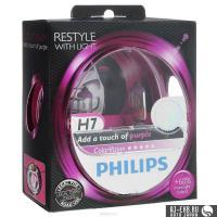 Автолампа PHILIPS H7  Color Vision +60% розовая  3350K