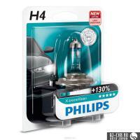 Автолампа PHILIPS H4  X-treme Vision +130%  (блистер)