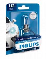 Автолампа PHILIPS H3  Diamond Vision 5000K  (блистер)