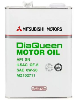 Моторное масло Mitsubishi Motor Oil 0w20 SN/GF-5 4л