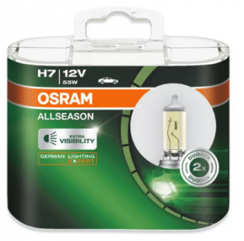 Автолампа OSRAM H7  ALLSEASON +30% 3000К (2шт)