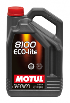 Моторное масло MOTUL 8100 Eco Lite 0w 20, 5л