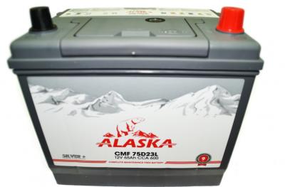 Аккумулятор ALASKA CMF 75D23FL 65ач silver+