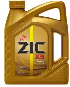 Моторное масло ZIC 5W-40  X9  SN, 4л