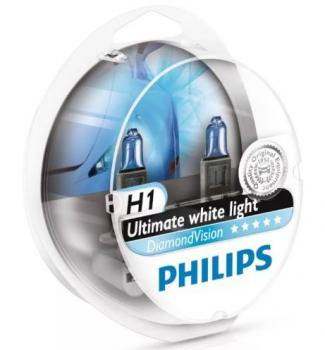 Автолампа PHILIPS  H1 Diamond Vision 5000K (2шт.)