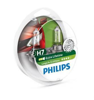 Автолампа H7 PHILIPS  Long Life Eco (2 шт)