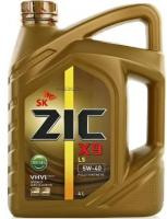 Дизельное моторное масло ZIC   5W40  X9 LS Diesel SN, 4л