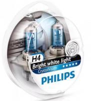 Автолампа PHILIPS H4  Crystal Vision 4300K (2шт)