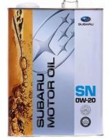 Моторное масло Subaru SN 0W20, 4л