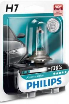Автолампа PHILIPS H7 X-treme Vision +130% (блистер)