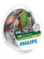 Автолампа PHILIPS  H4 LongLife Eco (2 шт)