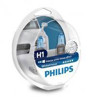 Автолампа PHILIPS H1 White Vision 4300К (2шт.)