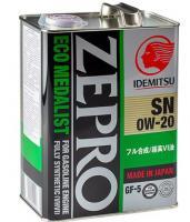 Моторное масло IDEMITSU ZEPRO ECO MEDALIST  0W20 4л