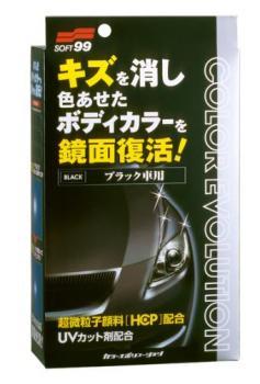 Полироль для кузова цветовосстанавливающий Soft99 Color Evolution Black для черных а/м, 100 мл