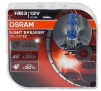 Автолампа OSRAM HB3 12V NIGHT BREAKER UNLIMITED + 110% (2шт)
