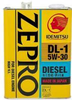Моторное масло IDEMITSU ZEPRO DIESEL  DL-1 5W30 4л