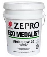 Моторное масло IDEMITSU Zepro Eco Medalist 0W-20 SN, 20 л