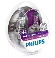 АвтолампаPHILIPS  H4  Vision Plus +60% (2шт)
