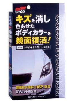 Полироль для кузова цветовосстанавливающий Soft99 Color Evolution White Pearl для белых и перламутровых а/м, 100 мл