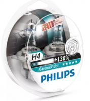 Автолампа PHILIPS H4  X-treme Vision +130% (2шт)
