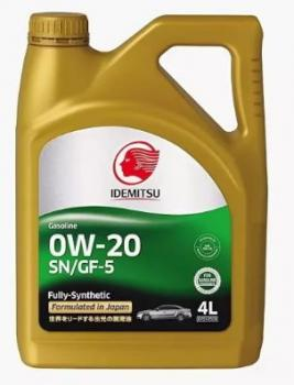 Моторное масло IDEMITSU 0W-20 SN/GF-5, 4л