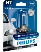 Автолампа PHILIPS H7  White Vision 4300К +60% (блистер)