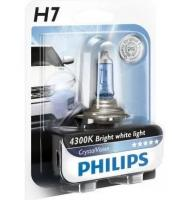 Автолампа PHILIPS H7  Crystal Vision 4300K (блистер)