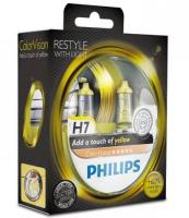 Автолампа PHILIPS H7  Color Vision +60% желтая  3350K