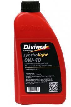 Моторное масло DIVINOL Syntholight 0W-40  1 л