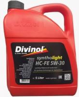 Моторное масло DIVINOL Syntholight HC-FE 5w30  5 л