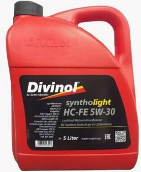 Моторное масло DIVINOL Syntholight HC-FE 5w30  5 л