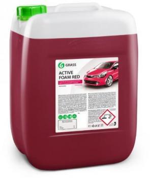 """Автошампунь для бесконтактной мойки """"GRASS"""" Active Foam Red (22 кг) (пена)"""