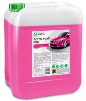 """Автошампунь для бесконтактной мойки """"GRASS"""" Active Foam Pink (24 кг) (пена)"""