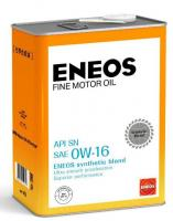 Масло моторное ENEOS FINE MOTOR OIL SN Синтетика 0W16 4л