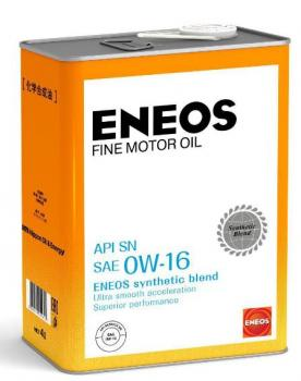 Масло моторное ENEOS FINE MOTOR OIL SN Синтетика 0W16 4л