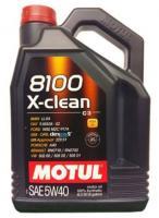 Моторное масло MOTUL 8100 X Clean 5w 40 A3/B4/C3, 4л