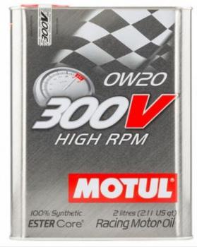 Моторное масло MOTUL 300V High PRM ESTER Core 0W 20 2л