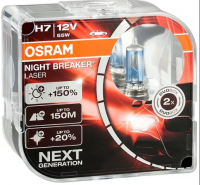 Автолампа OSRAM NIGHT BREAKER LASER H7 + 150% (2шт)