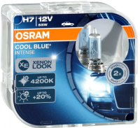 Автолампа OSRAM H7 12V 55W  COOL BLUE INTENSE  (2шт)