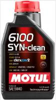 Масло моторное Motul 6100 SYN-Clean 5w40 1л