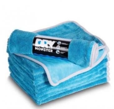 Dry Monster - Синяя микрофибра для сушки с оверлоком 50X60см 560гр/м