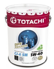 Масло моторное TOTACHI Premium Diesel CJ-4/SM Синтетика 5W40 20л