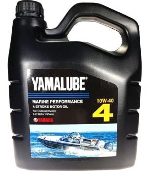 Моторное масло Yamalube 4 SAE 10W-40 API SJ/CF Marine Synthetic Oil (4 л)