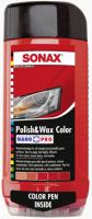 Цветной полироль с воском + карандаш(красный) Sonax Nano Pro 0.5л.