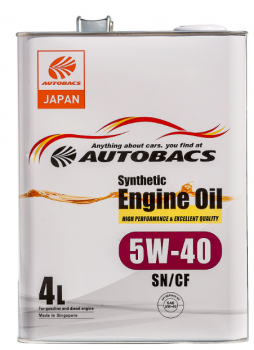 Моторное масло AUTOBACS ENGINE OIL SYNTHETIC 5W40 SN/CF (4л)