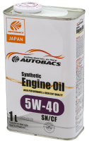 Моторное масло AUTOBACS ENGINE OIL SYNTHETIC 5W40 SN/CF (1л)