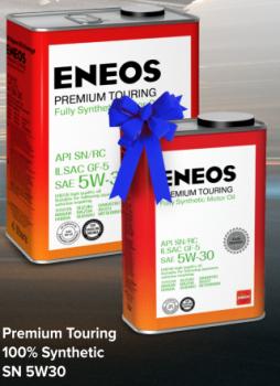 Масло моторное ENEOS 5W30 Premium TOURING SN  4л +1л
