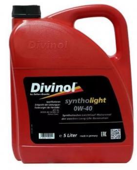 Моторное масло DIVINOL Syntholight 0W40 5 л